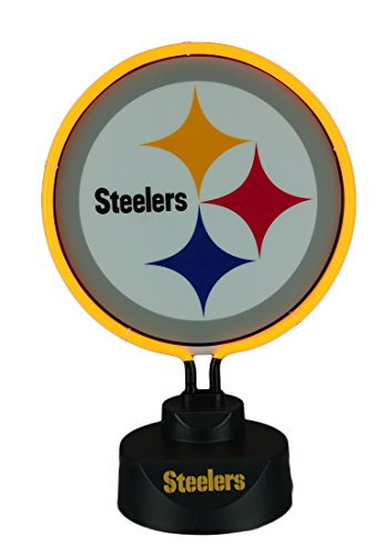 ittsburgh Steelers Logo Neon Tabletop Statue Accent Lamp ()
