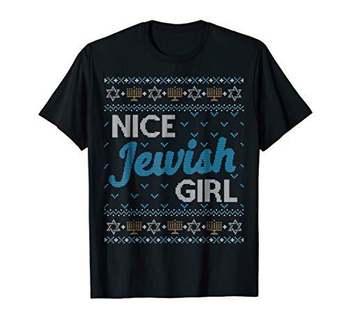 Jewish Girl (Funny Ugly Hanukkah Sweater Shirt Nice Jewish Girl Matching)