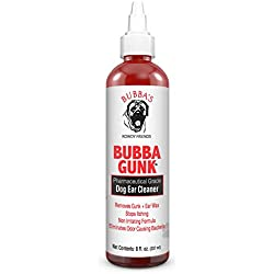 Bubbas Dog Ear Cleaner Pharmacist Formulated Extra Strength Natural Pet Ear Cleaner For Dogs or Cat. Odor Eliminator Wash That Will Clean Pet Ears & Remove Bacteria, Yeast, Fungus, Mites and Wax
