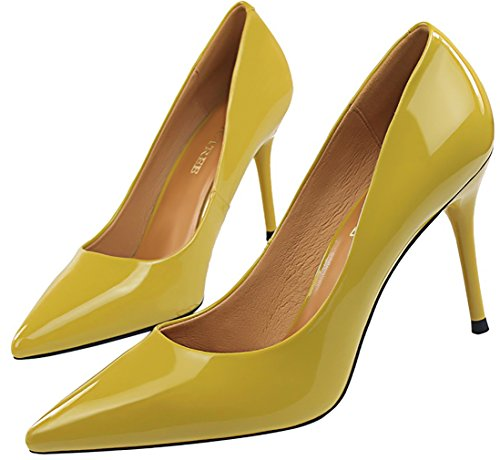 Vaneel Women vpnnx 9CM Stiletto Slip-on Court Shoes Yellow 2fC8ghWv6