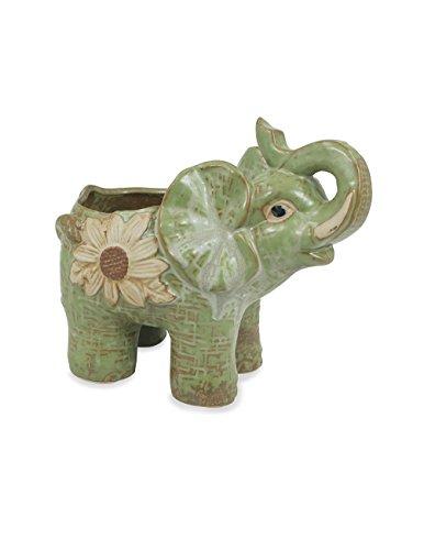 Elephant Pot (Dahlia Daisy Elephant Handmade Ceramic Succulent Planter/ Plant Pot/ Flower Pot, Daughter)