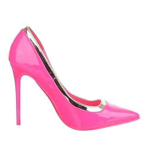 Ital-Design - Zapatos de Tacón Mujer Rosa - rosa