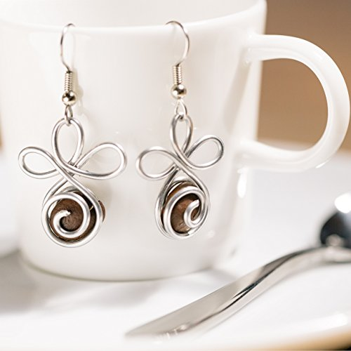Fair Trade Coffee Gift for Women: Handmade Earrings that empower mothers in need. Handmade with love in the Dominican Republic by The Madres Collective