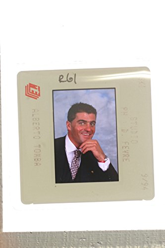 - Slides photo of Close up of former Italian World Cup alpine ski racer Alberto Tomba