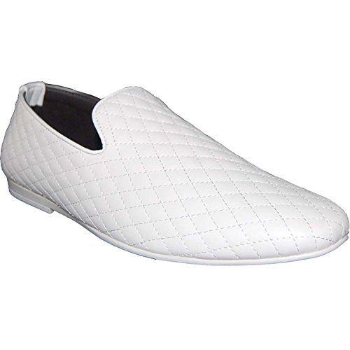 KRAZY SHOE ARTISTS White Designer Stitched Pattern Mens Loafer -Size 9-5