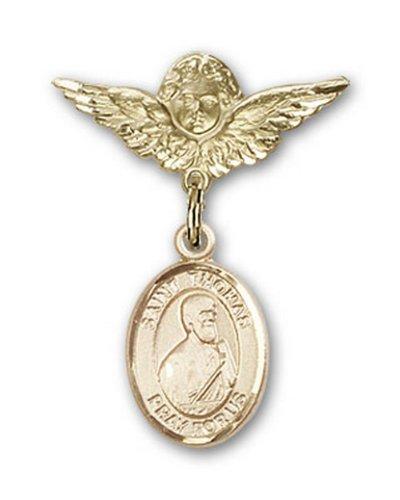 Icecarats Or Bijoux De Créateurs Rempli R. Thomas La Broche Badge Apôtre Charme D'Ange 1 X 3/4