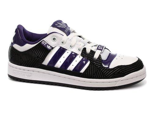 Adidas Decade Low ST Donne Originals per il tempo libero da ginnastica bianco/nero/viola