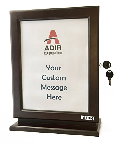 Adir Customizable Wood Suggestion Box - Mahogany - with a Free Pack of Refill Suggestion Box Cards ()