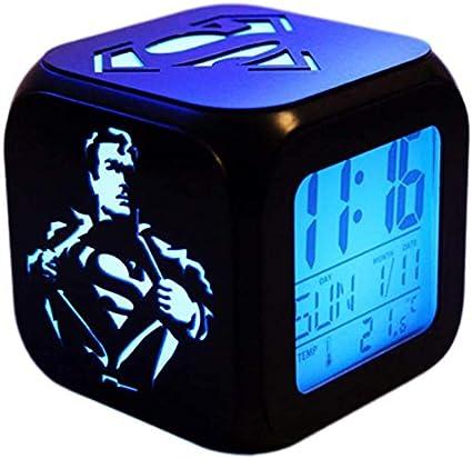 Superman 3D Stereo Alarm Clock Night Light