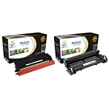 Catch Supplies TN580 & DR520 Premium Combo Replacement Toner Cartridge and Drum Unit Compatible with Brother HL-5240 5250DN 5250, MFC-8460N 8660DN 8860, DCP-8060 8065DN Printers |1 TN-580, 1 DR-520|