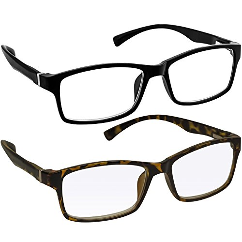 Computer Reading Glasses 2.75 _ Black Tortoise Protect Your Eyes Against Eye Strain, Fatigue and Dry Eyes from Digital Gear with Anti Blue Light, Anti UV, Anti Glare, and are - Half Tortoise Glasses Shell Rim