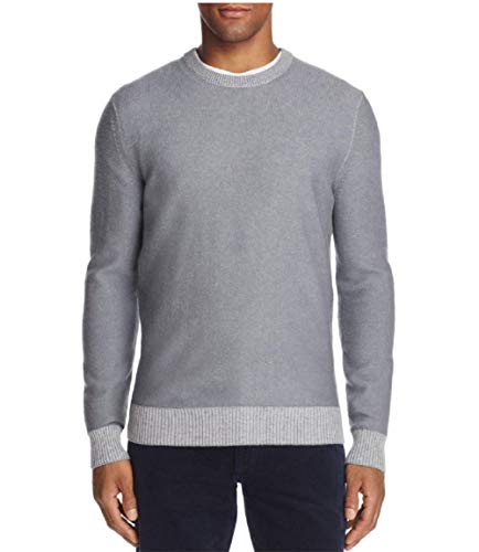 - The Men's Store at Bloomingdale's Crewneck Wool & Cashmere Sweater Slate Silver X-Large