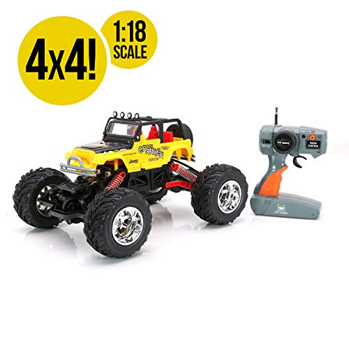 RC CHARGERS Jeep Rock Crawler Off-Road RC Truck | Extreme Flex 4X4 Chassis, Superior Suspension, Off-Road Capable, 27MHz, Pistol Grip Control | AA Batteries Included ()