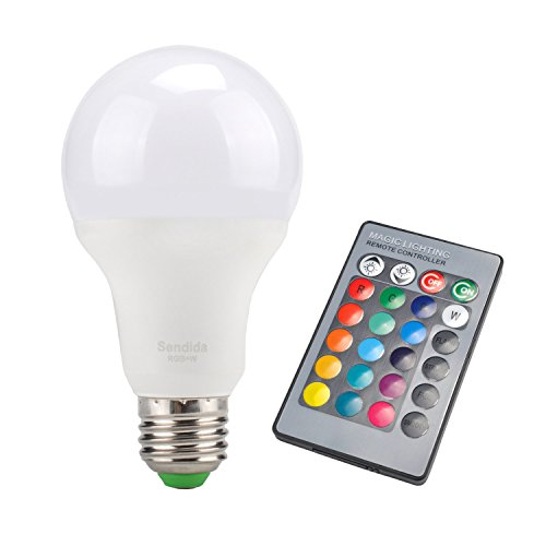 Sdida LED RGB Bulb E27 Equivalent To 15W, Remote Control, Color Changing  And Dimmable Light Bulb     Amazon.com