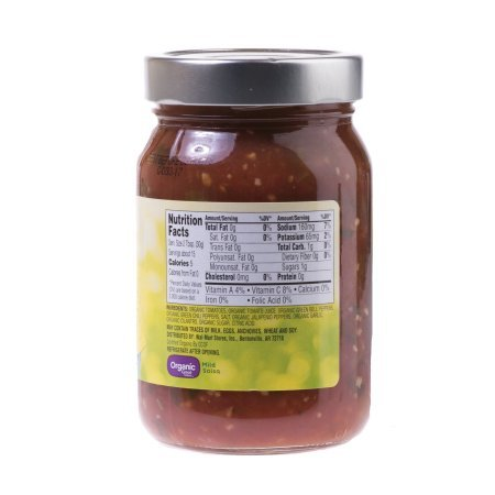 Great Value Organic Salsa Mild, 16 oz, pack of 3