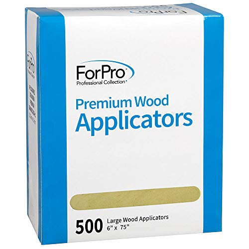 "ForPro Premium Wood Applicators, Non-Sterile, for Hair Removal Waxing, Large, 6"" L x .75"" W, 500-Count"