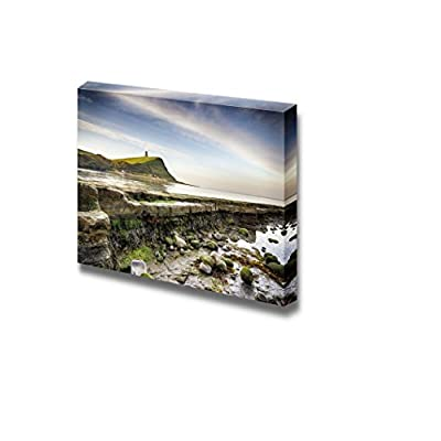 Beautiful Scenery Landscape Rocky Ledges at Kimmeridge Bay on The Jurassic Coast in Dorset - Canvas Art Wall Art - 16