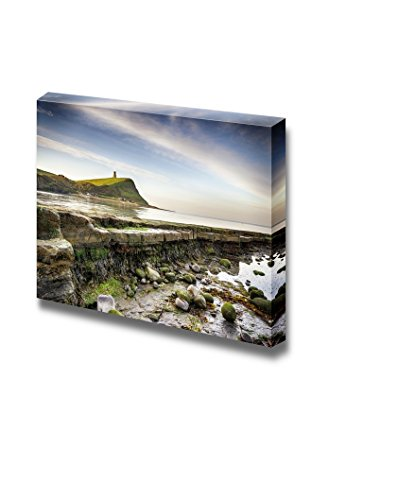 Beautiful Scenery Landscape Rocky Ledges at Kimmeridge Bay on the Jurassic Coast in Dorset Wall Decor ation