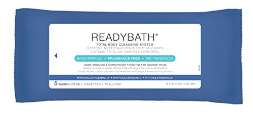 Medline ReadyBath Unscented Body Cleansing Cloths, Standard Weight Wipes (5 Count Pack, 30 Packs) by Medline