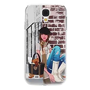 GJY Girl with Scarf Pattern Hard Case for Samsung Galaxy S4 I9500