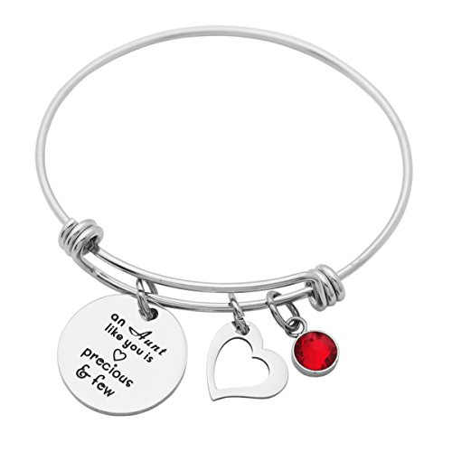 Kingmaruo Aunt Gift Aunt Quote Engraved Charm Expandable Bangle Personalized Aunt Gift from Niece (An Aunt Like You is Precious & Few) by Kingmaruo