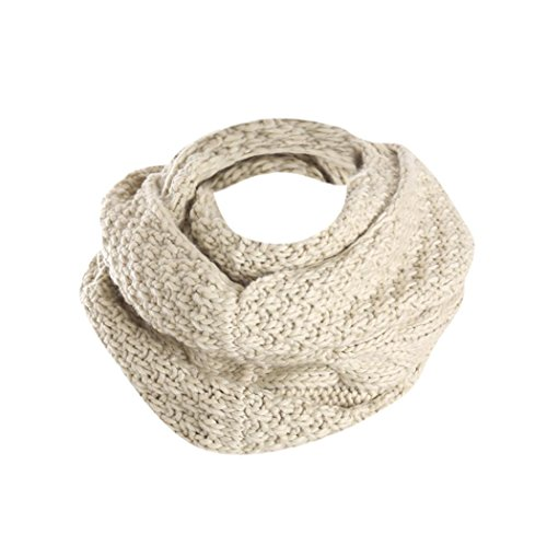 - Clearance!! Women Winter Thick Knitted Woolen Yarn Infinity Scarf Circle Loop Scarves By WuyiMC (Beige)