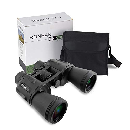 20x50 High Power Military Binoculars, BAK4, Large Eyepiece, Compact and Waterproof Binoculars Telescope with Multilayer-coated Lenses for Adult Bird Watching Astronomy Football Safari Sightseeing Clim