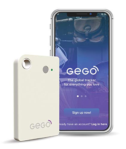 GEGO Worldwide Tracker - Personal Global Real Time Tracking Device Tracks Anything or Anyone Anywhere (3G/Bluetooth with Mobile App) White
