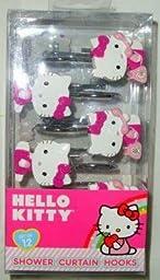 1 X Hello Kitty on Telephone Shower Curtain Hooks Girls Room Decor