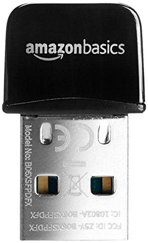 AmazonBasics Wi-Fi Nano Adapter, Black