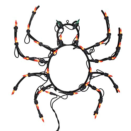 Pack of 4 Lighted Spider Halloween Window Silhouette Decoration 15