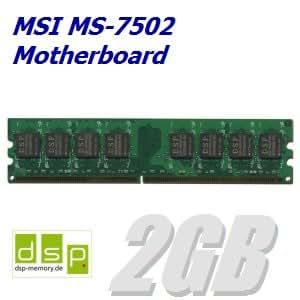 2 GB de memoria/RAM para MSI MS-7502 Motherboard