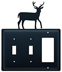 Village Wrought Iron Essg-3 Switch Cover Triple - Deer