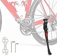 Ideashop Kickstand for Bike, Adjustable Aluminum Alloy Mountain Bike Kickstand Anti-Slip Bike Rear Support Kic