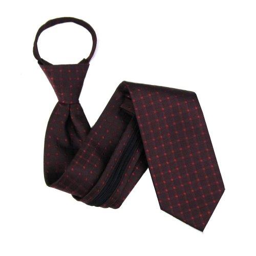 Burgundy 5 Zip - B-U-ZIP-10072 - Burgundy Zipper Tie - Boys (3-8 years old)