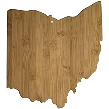 Totally Bamboo 20-7956OH Ohio State Shaped Bamboo Serving & Cutting Board