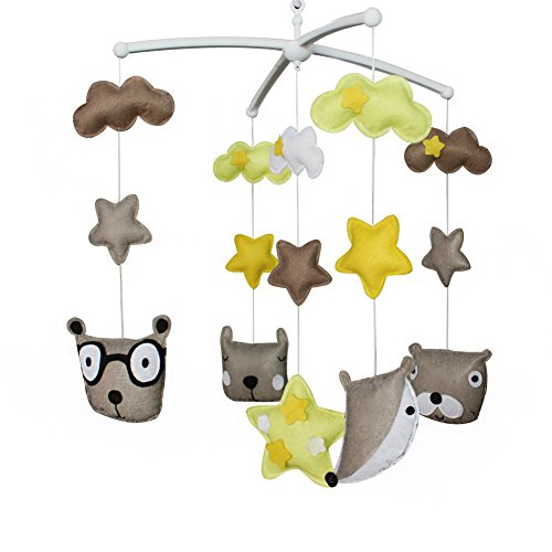 [Cute Animals] Exquisite Baby Crib Bed Bell, Handmade Creative Baby Gift by Black Temptation