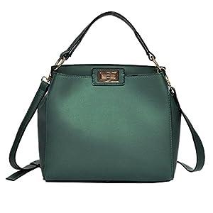 Hot Sale!Todaies Fashion Women Pure Color Shoulder Bag Hand Bag Satchel Tote Crossbody Bag Black,Green,Siliver Colors