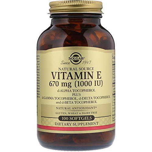 Solgar - Vitamin E 1000 IU Mixed (d-Alpha Tocopherols & Mixed Tocopherols) 100 Softgels (Mixed Emulsions)