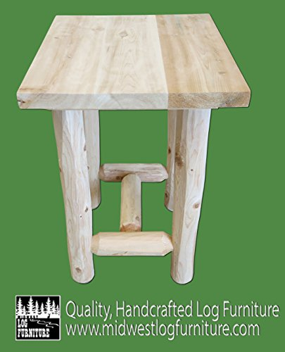 Midwest Log Furniture - Log Economy Nightstand (Cedar Nightstand Bedroom)