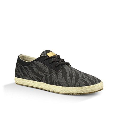 888855402831 - Sanuk Mens Cochise Loafers Shoes Footwear, Black Tigerbolt, Size 09 carousel main 1