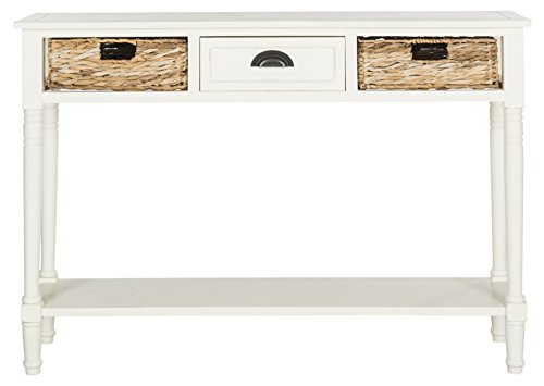 Safavieh American Homes Collection Christa Distressed White Storage Console -
