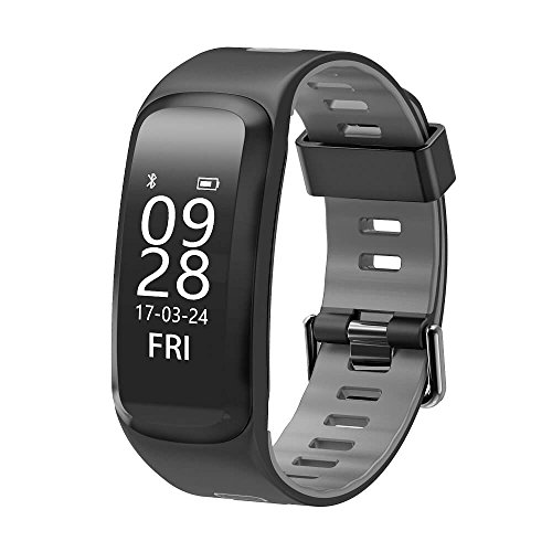 Smart Watch Heart Rate Monitor - Hathcack Ai01 Waterproof Bluetooth Heart Rate Blood Pressure Blood Oxygen Monitoring Smart Band Fitness Tracker Sports Bracelet-Grey