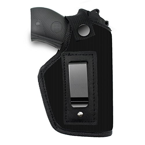 Creatrill Inside The Waistband Holster | Fits M&P Shield 9mm, .40, .45 Auto / GLOCK 26 27 29 30 33 42 43 / Ruger LC9, LC380 / Springfield XD & Similar Pistols | Gun Concealed Carry IWB Holster (Concealed Carry Guns)