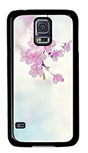 Pink Flower Custom Back Phone Case for Samsung Galaxy S5 PC Material Black -1210034