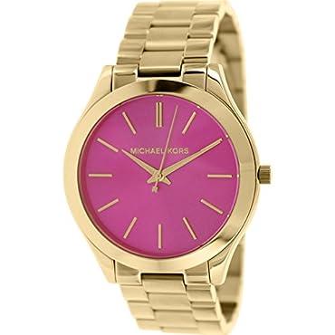Michael Kors MK3264 Women's Slim Runway Gold-Tone Stainless Steel Bracelet Watch