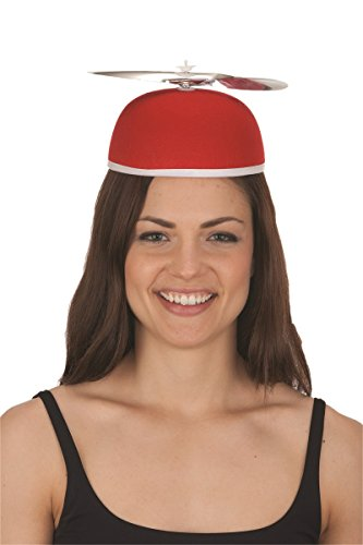 Helicopter Hats (Felt Beanie Copter Helicopter Propeller Hat Cap Costume Accessory Red)