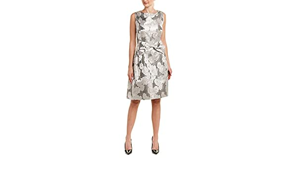 91274e73e44f Tahari by ASL Womens Metallic Jacquard Bow Dress at Amazon Women's Clothing  store: