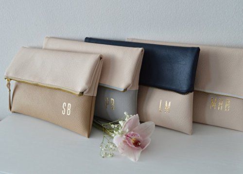 Set of 4 Personalized Foldover Clutches by navesdesign