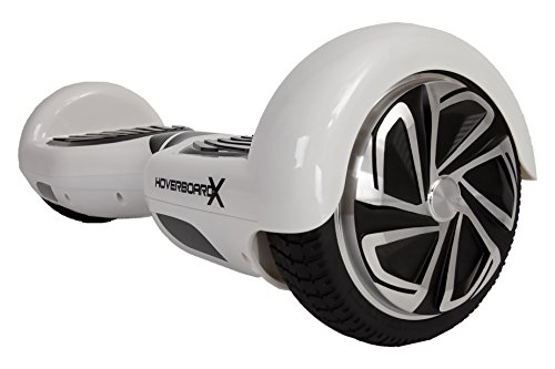 HoverboardX Hoverboard Electric Scooter Skateboard UL 2272 Certified - Bluetooth Speaker - Safe - LED Lights - Quick Charging - Aluminum Alloy Chassis - Better Durability - White, One Size